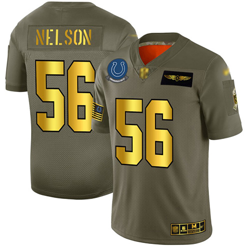 Colts #56 Quenton Nelson Camo Gold Men's Stitched Football Limited 2019 Salute To Service Jersey