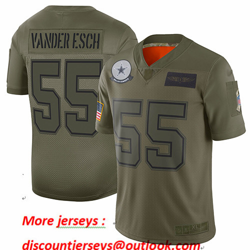 Cowboys #55 Leighton Vander Esch Camo Youth Stitched Football Limited 2019 Salute to Service Jersey
