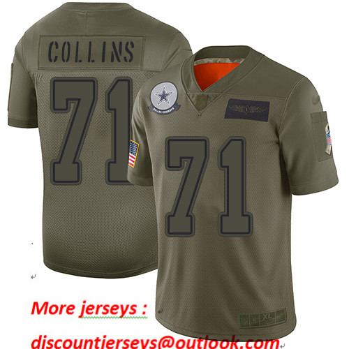 Cowboys #71 La'el Collins Camo Youth Stitched Football Limited 2019 Salute to Service Jersey
