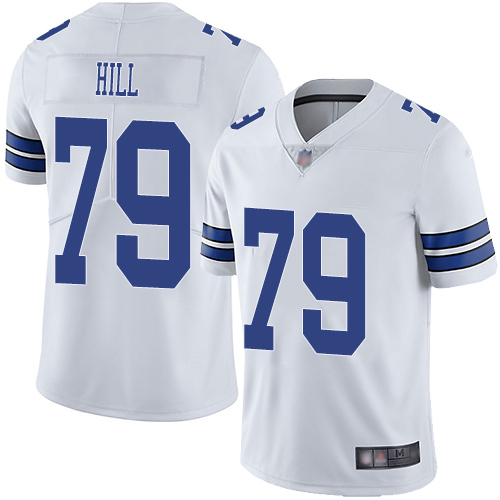 Cowboys #79 Trysten Hill White Men's Stitched Football Vapor Untouchable Limited Jersey