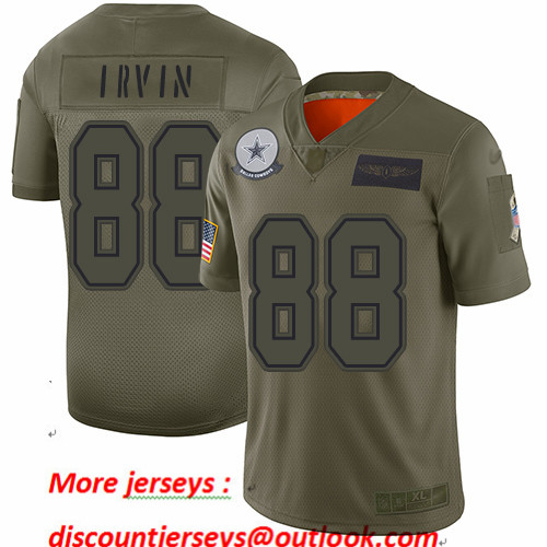 Cowboys #88 Michael Irvin Camo Youth Stitched Football Limited 2019 Salute to Service Jersey