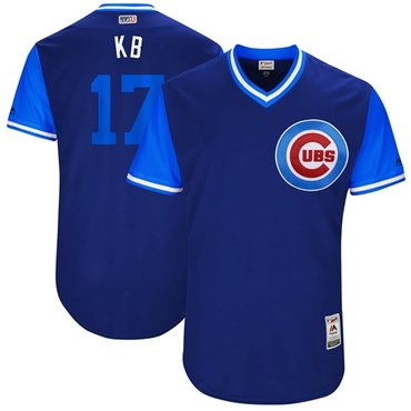 78827af98a5 Cubs  17 Kris Bryant Royal KB Players Weekend Authentic Stitched MLB Jersey