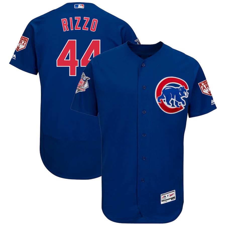 Cubs 44 Anthony Rizzo Royal 2019 Spring Training Flexbase Jersey