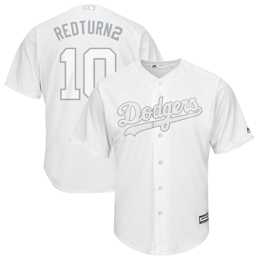Dodgers 10 Justin Turner RedTurn2 White 2019 Players' Weekend Player Jersey