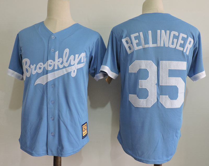 Dodgers 35 Cody Bellinger Blue Cooperstown Collection Throwback Jersey 0e677e9b3