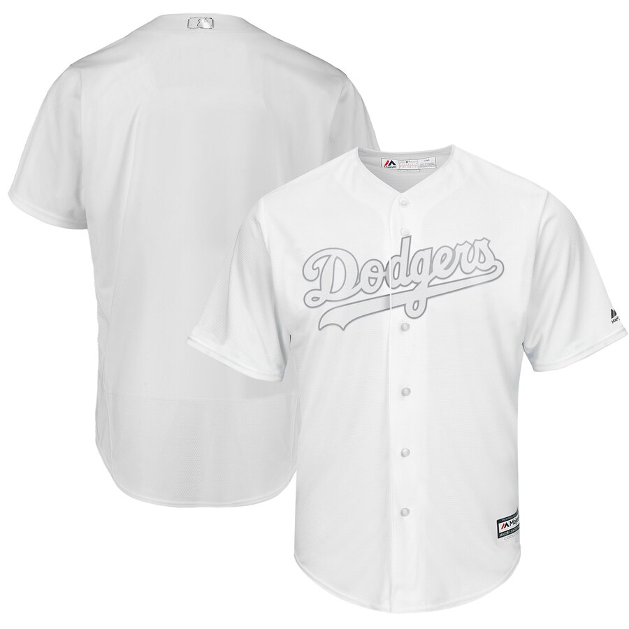 Dodgers Blank White 2019 Players' Weekend Player Jersey