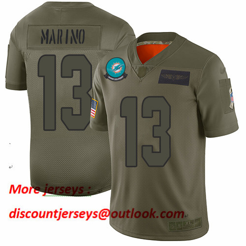 Dolphins #13 Dan Marino Camo Men's Stitched Football Limited 2019 Salute To Service Jersey