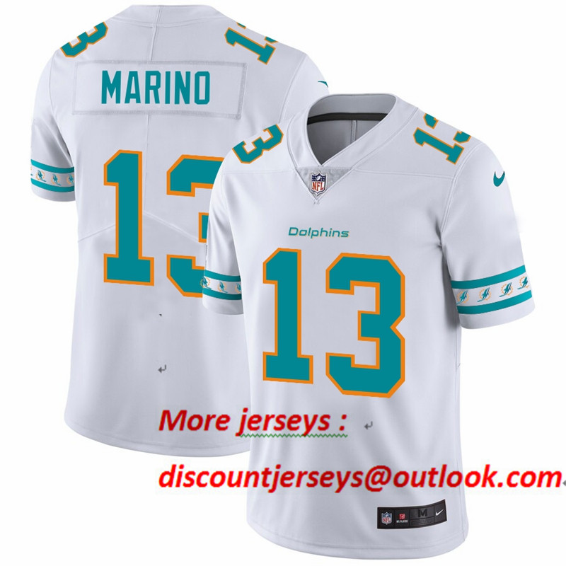 Dolphins 13 Dan Marino White 2019 New Vapor Untouchable Limited Jersey