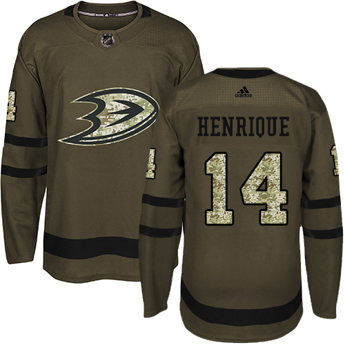 Ducks #14 Adam Henrique Green Salute to Service Stitched Hockey Jersey