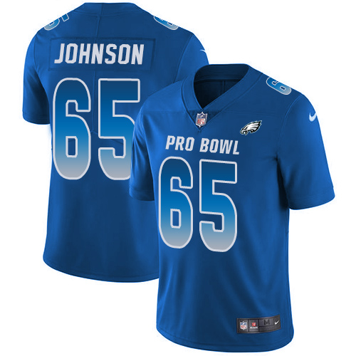 Eagles #65 Lane Johnson Royal Youth Stitched Football Limited NFC 2019 Pro Bowl Jersey