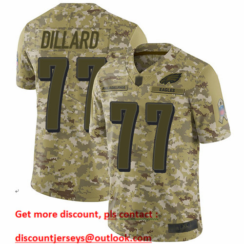 Eagles #77 Andre Dillard Camo Men's Stitched Football Limited 2018 Salute To Service Jersey