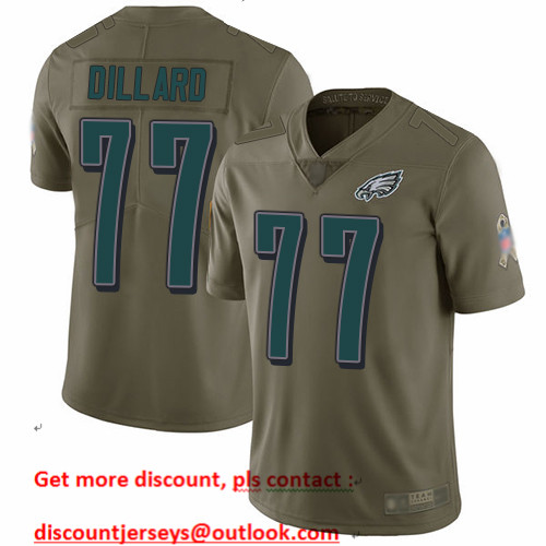 Eagles #77 Andre Dillard Olive Men's Stitched Football Limited 2017 Salute To Service Jersey