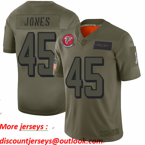 Falcons #45 Deion Jones Camo Youth Stitched Football Limited 2019 Salute to Service Jersey