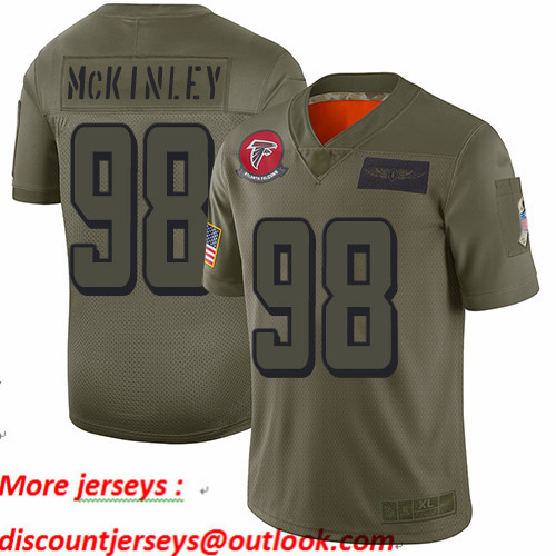 Falcons #98 Takkarist McKinley Camo Youth Stitched Football Limited 2019 Salute to Service Jersey