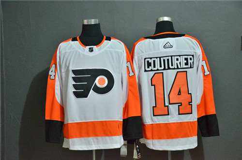 Flyers 14 Sean Couturier White Adidas Jersey