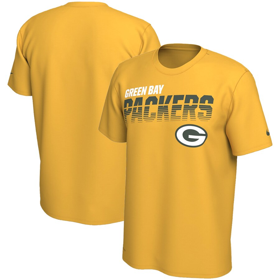 Green Bay Packers Nike Sideline Line Of Scrimmage Legend Performance T-Shirt Gold