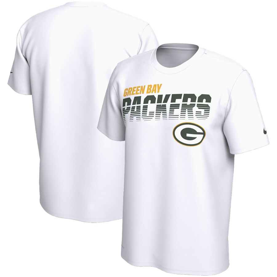 Green Bay Packers Nike Sideline Line Of Scrimmage Legend Performance T-Shirt White