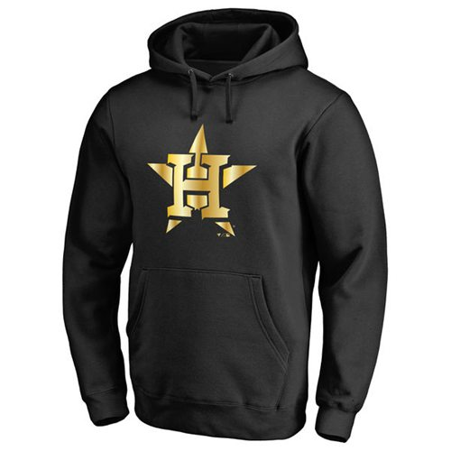 Houston Astros Gold Collection Pullover Hoodie Black