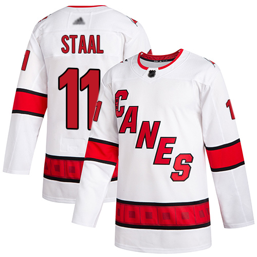 Hurricanes #11 Jordan Staal White Road Authentic Stitched Hockey Jersey