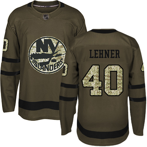 Islanders #40 Robin Lehner Green Salute to Service Stitched Hockey Jersey