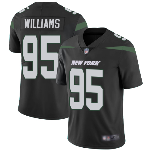 Jets #95 Quinnen Williams Black Alternate Youth Stitched Football Vapor Untouchable Limited Jersey