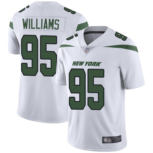 Jets #95 Quinnen Williams White Men's Stitched Football Vapor Untouchable Limited Jersey