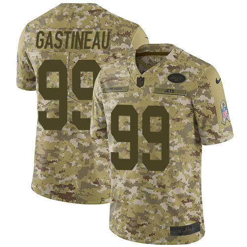 Jets #99 Mark Gastineau Camo Men's Stitched Football Limited 2018 Salute To Service Jersey
