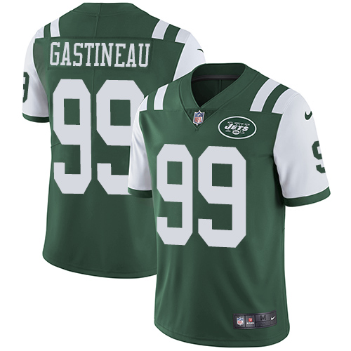 Jets #99 Mark Gastineau Green Team Color Men's Stitched Football Vapor Untouchable Limited Jersey