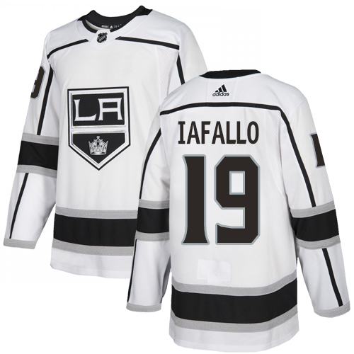 Kings #19 Alex Iafallo White Road Authentic Stitched Hockey Jersey