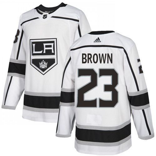 Kings #23 Dustin Brown White Road Authentic Stitched Hockey Jersey