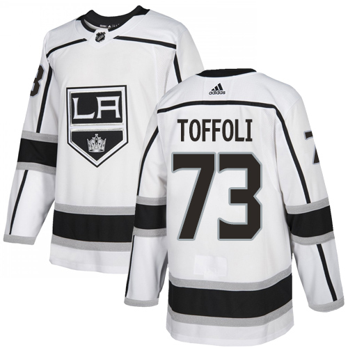 Kings #73 Tyler Toffoli White Road Authentic Stitched Hockey Jersey