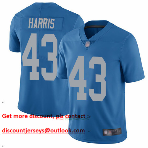 Lions #43 Will Harris Blue Throwback Men's Stitched Football Vapor Untouchable Limited Jersey