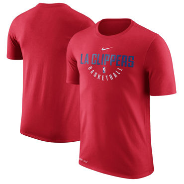 Los Angeles Clippers Red Nike Practice Performance T-Shirt 5bab29d38