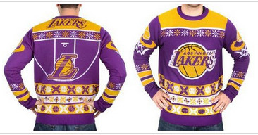 Los Angeles Lakers Men's NBA Ugly Sweater