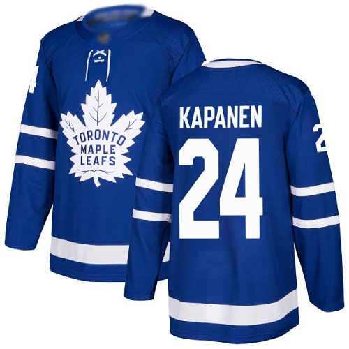 Maple Leafs #24 Kasperi Kapanen Blue Home Authentic Stitched Hockey Jersey