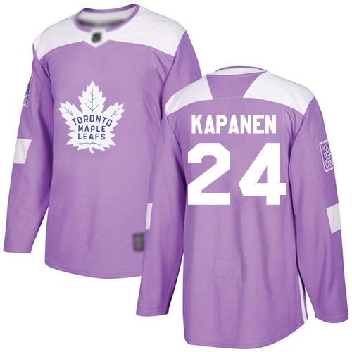Maple Leafs #24 Kasperi Kapanen Purple Authentic Fights Cancer Stitched Hockey Jersey