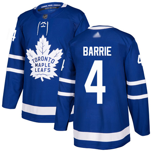 Maple Leafs #4 Tyson Barrie Blue Home Authentic Stitched Hockey Jersey