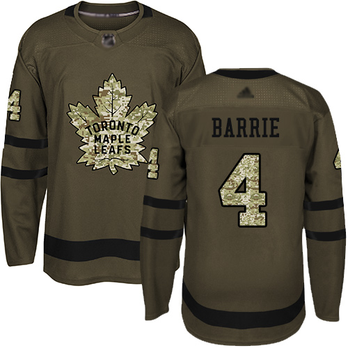 Maple Leafs #4 Tyson Barrie Green Salute to Service Stitched Hockey Jersey