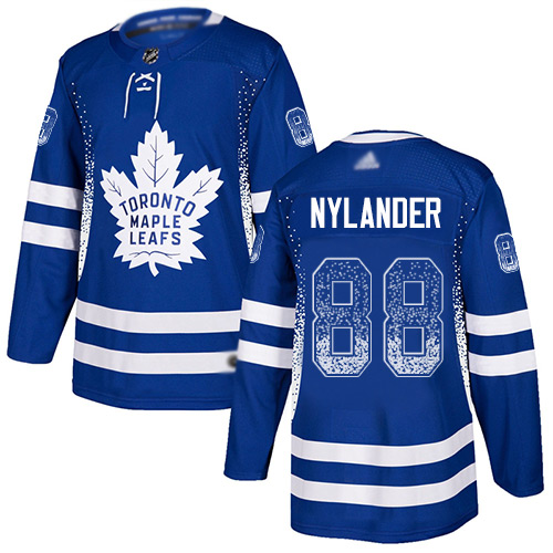 Maple Leafs #88 William Nylander Blue Home Authentic Drift Fashion Stitched Hockey Jersey