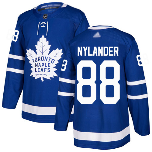 Maple Leafs #88 William Nylander Blue Home Authentic Stitched Youth Hockey Jersey