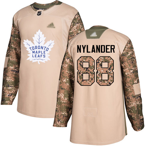 Maple Leafs #88 William Nylander Camo Authentic 2017 Veterans Day Stitched Youth Hockey Jersey