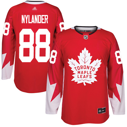 Maple Leafs #88 William Nylander Red Team Canada Authentic Stitched Youth Hockey Jersey