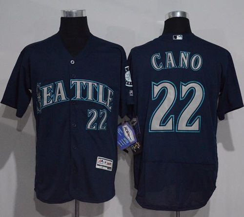 Mariners  22 Robinson Cano Navy Blue Flexbase Authentic Collection Stitched  MLB Jersey 02300e61ad84