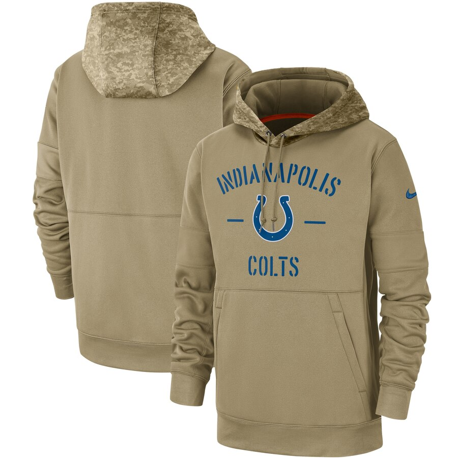 Men's Indianapolis Colts 2019 Salute To Service Sideline Therma Pullover Hoodie