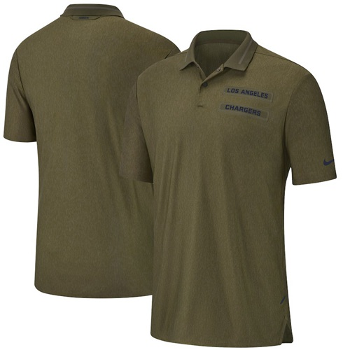 Men's Los Angeles Chargers Salute to Service Sideline Polo Olive