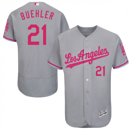 Men s Los Angeles Dodgers  21 Walker Buehler Player Authentic Gray Flex  Base Mother s Day Collection Jersey e2fe0ffb511