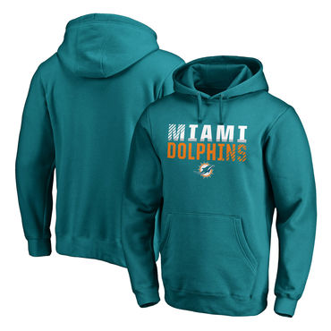2260d9ba300 Men s Miami Dolphins NFL Pro Line By Fanatics Branded Aqua Iconic  Collection Fade Out Pullover Hoodie