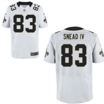 ab600319c Men s Nike New Orleans Saints  83 Willie Snead White Road NFL Elite Jersey