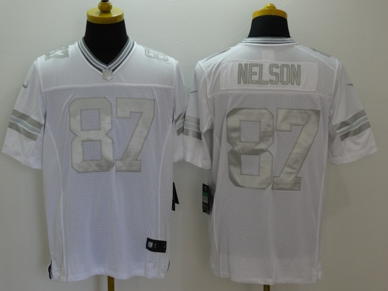Men s Nike Packers  87 Jordy Nelson White NFL Limited Platinum Jersey 5b0cc6896