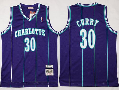 Mitchell And Ness Charlotte Hornets  30 Dell Curry Purple Throwback Stitched  NBA Jersey 0efbaf9e6